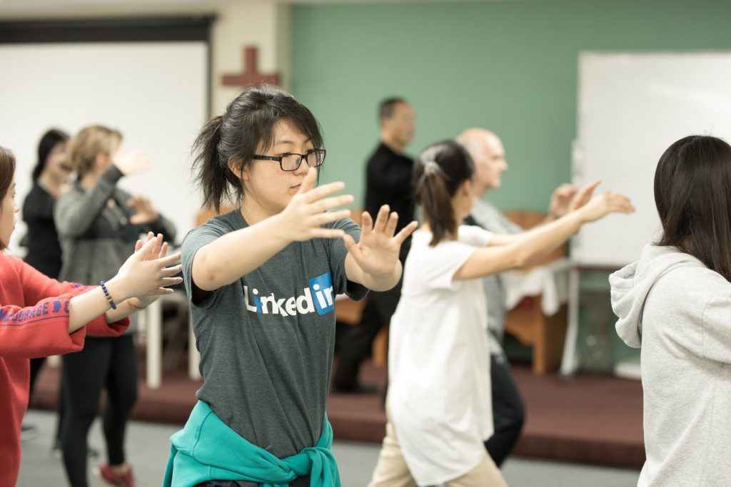 VUIM Students practicing Tai Chi.